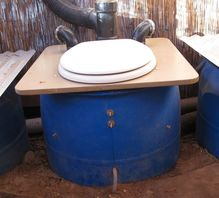 Composting toliet at Watershed Management Group. Photo copyright Permasystems 2017