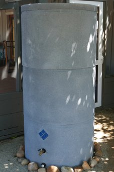 Custom rainwater storage tank built by Permasystems.
